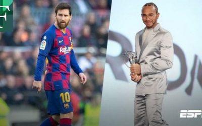 Messi y Hamilton compartieron el premio Laureus en Berlín