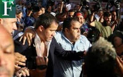 Regreso de Guaidó bajo ataque de colectivos en Maiquetía