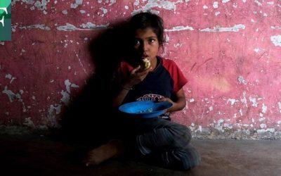 Niños pasan hambre en al menos 73% de los hogares