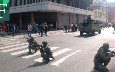 Régimen sacó militares a las calles de Caracas