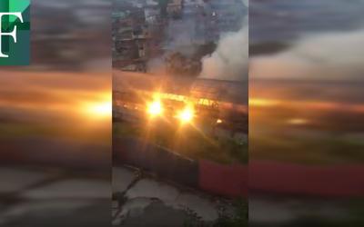 Incendio en el Metro de Los Teques