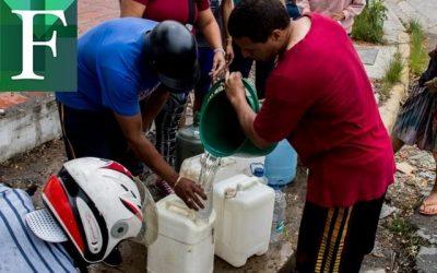 Comienza el restablecimiento del suministro de agua en Miranda