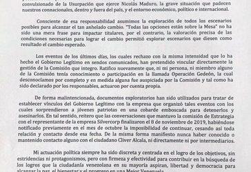 Rendón y Vergara presentaron renuncias a Guaidó