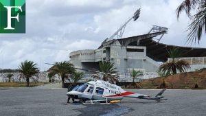 Helicóptero aterrizó de emergencia en Puerto Ordaz