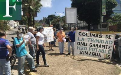 Tras más de 800 días sin agua, habitantes de La Trinidad protestaron