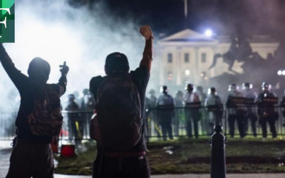 Cacerolazo y protesta frente a la Casa Blanca desafían el toque de queda