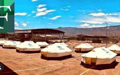 Instalan campamento transitorio para venezolanos en Cúcuta
