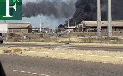 Incendio en la Planta Catalítica de la refinería Cardón