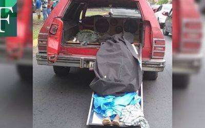Crisis de gasolina agarró hasta carroza fúnebre en San félix