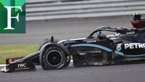 Con solo tres ruedas Hamilton gana el Gran Premio de Gran Bretaña