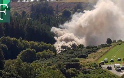 Al menos tres muertos tras descarrilamiento de tren en Escocia