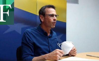 Capriles invitó a participar en las parlamentarias y avanza