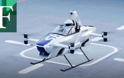 Japón prueba con éxito un carro volador tripulado por primera vez