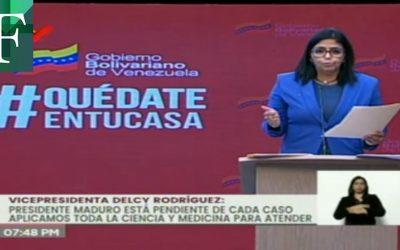 Venezuela reporta 1.061 contagios y 8 nuevos fallecidos por covid-19