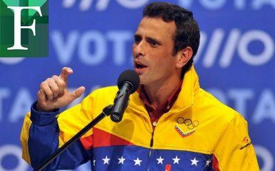 Capriles coincide con la UE: No hay condiciones para elecciones en Venezuela