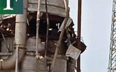 Así quedó la torre de destilación al vacío en Amuay tras explosión del martes