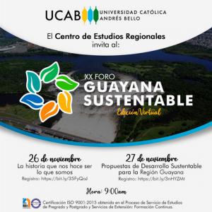 UCAB Guayana organiza XX edición  del Foro Guayana Sustentable