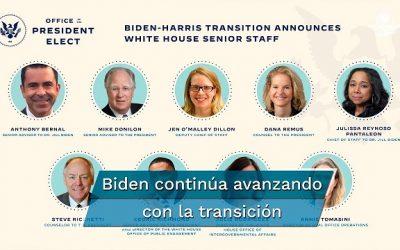 Este es el equipo que acompañaría a Biden de ganar la Casa Blanca