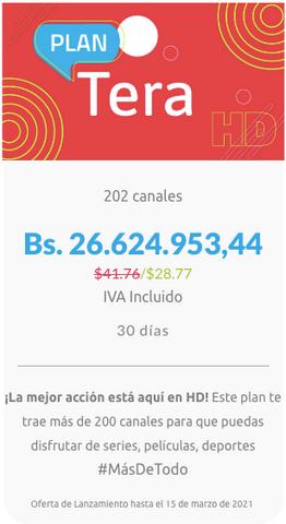 SimpleTV reajustó en alza el precio de sus planes
