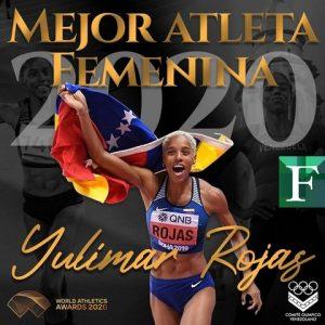 Yulimar Rojas premio Atleta del Año de World Athletics