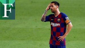 Messi fue expulsado de un partido por agredir a otro jugador