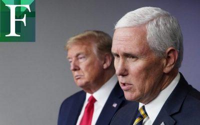 Pence le informó a Trump que no puede bloquear la victoria de Biden