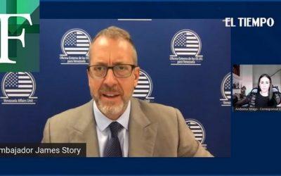 """James Story sobre la crisis en Venezuela: """"Una salida negociada sería lo mejor"""""""