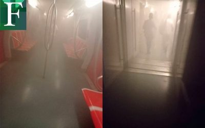 Cortocircuito originó incendio en la Línea 1 del Metro de Caracas