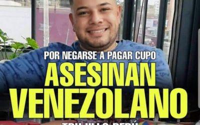 """""""No me he metido con nadie"""": venezolano fue asesinado en un mercado de Perú"""
