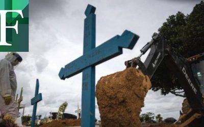 Con 4.000 muertes, Brasil rompió su récord diario de decesos por covid-19