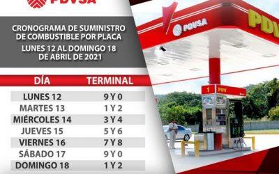 Conozca el calendario para el despacho de gasolina durante esta semana flexible