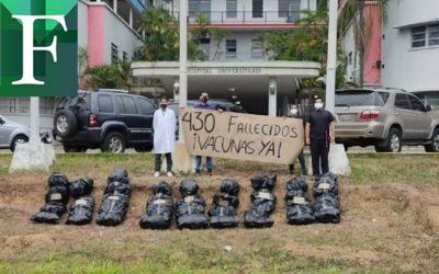 """Ana Rosario Contreras: """"Podrán silenciar una protesta, pero no el dolor por los trabajadores de la salud fallecidos"""""""