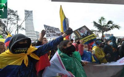 Jornada de manifestaciones en Bogotá  Colombia