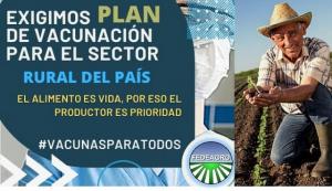 Fedeagro exige plan de vacunación contra el covid-19 que incluya las zonas rurales