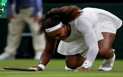 Con llanto  se retiró Serena Williams del Wimbledon tras una lesión