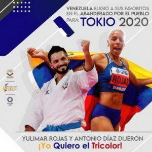 Yulimar Rojas y Antonio Díaz serán los abanderados criollos en los Juegos Olímpicos