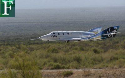 La aeronave de Richard Branson viaja al espacio y retorna sin contratiempos
