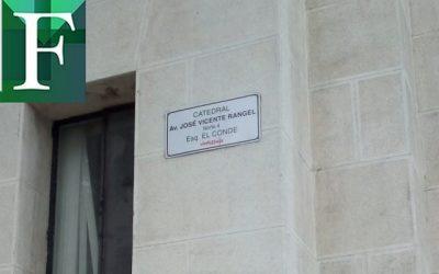 Cambiaron el nombre de las Avenidas Norte y Sur 4 de Caracas a José Vicente Rangel