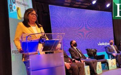 Crisis económica es culpa de factores externos según Delcy en Asamblea Anual de Fedecámaras