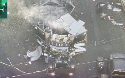 Detonación ilegal de explosivos dejó 17 personas heridas en Los Ángeles