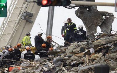 Paralizados temporalmente trabajos de rescate en Miami por temor a otro derrumbe