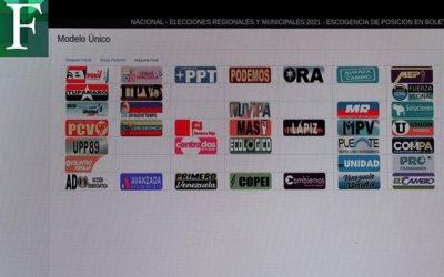 CNE configuró boleta de votación para las elecciones del 21N