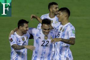 Argentina venció 3-1 a Venezuela en la clasificatoria hacia Qatar 2022