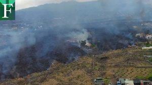 Una de las coladas de lava del volcán 'Cumbre vieja' se detuvo
