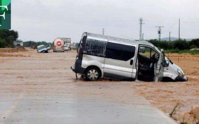 Fuertes lluvias dejan daños importantes en el centro y este de España