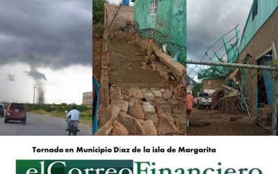 """""""Tornado"""" dejó varios daños de infraestructura en el municipio Díaz de Margarita"""