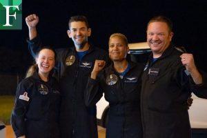 Los cuatro pasajeros de SpaceX regresan a la Tierra luego de tres días en el espacio